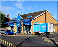 ST3090 : Bathstore shop and lorry, Malpas Road, Newport by Jaggery