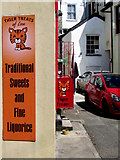 SX2553 : Two Tiger Treats name signs, East Looe by Jaggery