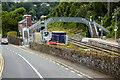 W7766 : Footbridge at Rushbrooke Railway Halt by David Dixon