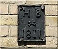 TG2208 : 1 Earlham Road - parish boundary marker by Evelyn Simak