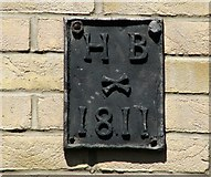 TG2208 : 1 Earlham Road - parish boundary marker by Evelyn Simak