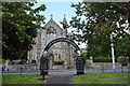 NS9768 : James Young Simpson memorial arch, Bathgate by Bill Harrison