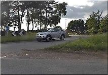 SO9476 : Roundabout on Sandy Lane, Stoneybridge by David Howard