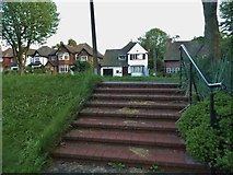 SO9490 : Steps to Priory Park, Dudley by David Howard