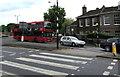 TQ1568 : Zebra crossing, Hampton Court Road, East Molesey by Jaggery