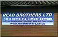 TG3310 : Reed Brothers Ltd poster at Plantation Park Football Ground by Adrian Cable