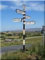 SD7266 : Fingerpost near Keasden, Clapham cum Newby by John S Turner