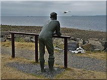 NX3343 : Sculpture by the shore at Port William by Neil Theasby
