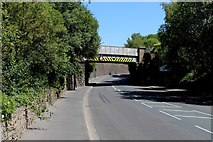 SD7328 : Railway Bridge over the A679 by Chris Heaton