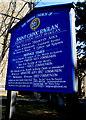 SO4107 : Church information board, Chepstow Road, Raglan by Jaggery