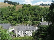 SK1672 : Litton Mill from the Monsal Trail by Gareth James