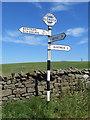 SD7466 : A fingerpost in Eldroth by John S Turner