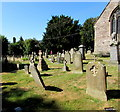 SO4107 : St Cadoc's churchyard, Raglan by Jaggery