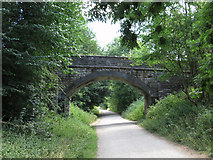 SK2070 : Monsal Trail: overbridge near Rowdale House by Gareth James
