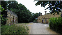 SK2268 : Monsal Trail: remains of Bakewell station by Gareth James