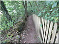 SE2804 : Footpath between fence and wall to Silkstone Common by Peter Wood