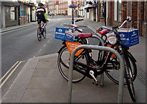 SU7682 : Two Bainton Bikes for hire in Bell Street, Henley by Roger A Smith