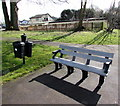 ST5190 : Memorial bench near St Pierre Old Golf Course,  Monmouthshire by Jaggery