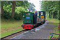 SH6102 : Rhydyronen Station - passing works train by Chris Allen