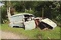 NN3081 : Retired van in a field corner by Graham Robson