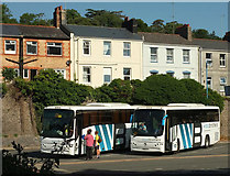 SX9164 : Coaches, Torquay coach station by Derek Harper
