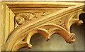 ST4849 : Carving, St Leonard's church, Rodney Stoke by Derek Harper