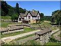 SP0513 : The ruins of the walls and museum at Chedworth Roman Villa by Steve Daniels