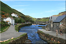 SX0991 : Boscastle Harbour by David Robinson