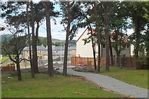 NT2540 : New houses, Peebles Hydro by Jim Barton