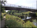 SE3419 : Riverside path and new bridge, River Calder, Wakefield by Rudi Winter
