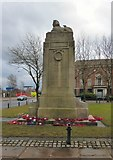 SJ8298 : War Memorial in Albert Bentley Place by Gerald England