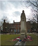 SJ8298 : War Memorial in Albion PlaceAlbert Bentley by Gerald England