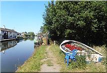 SJ7993 : Flowers in a Boat by Des Blenkinsopp