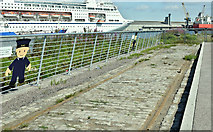 J3576 : Old shipyard railway, Titanic Quarter, Belfast (July 2018) by Albert Bridge