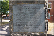 """SE2837 : Memorial stone to Lawrence Edward Grace """"Titus"""" Oates by Ian S"""