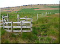 SE0113 : Gate on the public footpath from Buckstones House to The Dean, Marsden by Humphrey Bolton