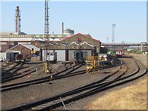 SE9110 : AFRPS sheds at Scunthorpe Steelworks by Gareth James