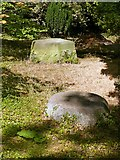 SK4924 : Chinese Garden, Whatton House, stone bases by Alan Murray-Rust