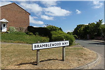 TM3877 : Bramblewood Way sign by Adrian Cable
