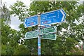 NT3569 : Path junction signposts, Smeaton by Jim Barton