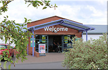 NX9575 : Welcome to Garden Wise, Dumfries by Billy McCrorie