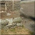 SK4823 : Bench mark, All Saints Church, Long Whatton by Alan Murray-Rust