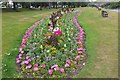 NT3472 : Flowerbed by the Esk, Musselburgh by Jim Barton