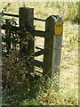 SK4823 : Gatepost with EWS sign, Mill Lane, Long Whatton by Alan Murray-Rust