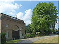 SO5163 : Triumphal Arch and plane tree, Berrington Hall, Herefordshire by Robin Drayton