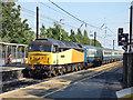 SE3693 : Northallerton station - receding charter train by Stephen Craven