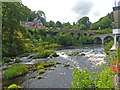 SJ1943 : River Dee as viewed from The Chainbridge Hotel, Llangollen by Robin Drayton