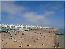 TQ3103 : Beaches east of Palace Pier by Paul Gillett