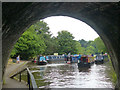 SJ2837 : Narrowboats at the entrance to Chirk Tunnel : Week 29