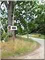 NJ6501 : Fordie access junction off minor road by Stanley Howe